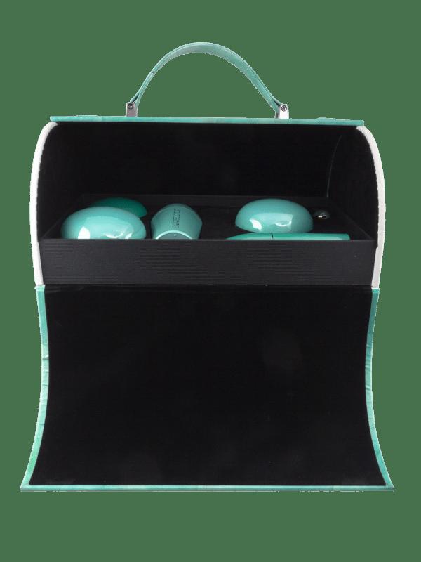 Jade Spectra suitcase opened