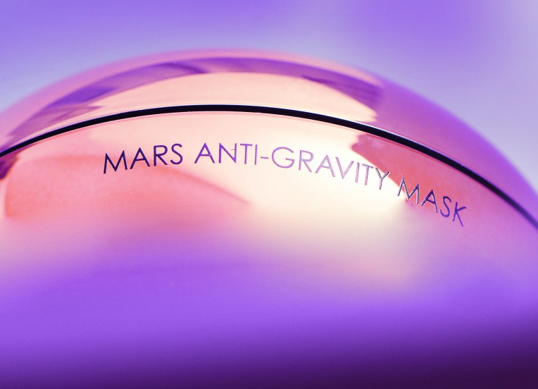 mars anti-gravity mask up close view