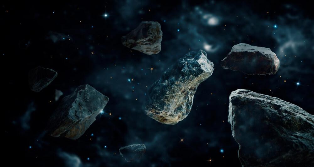 Meteorites in space