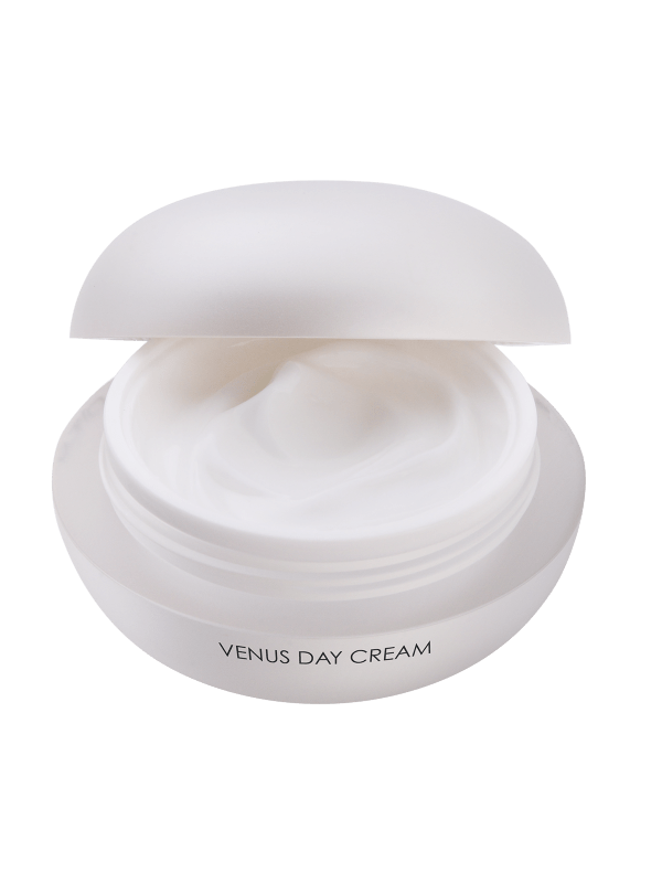 Venus Day Cream with open lid