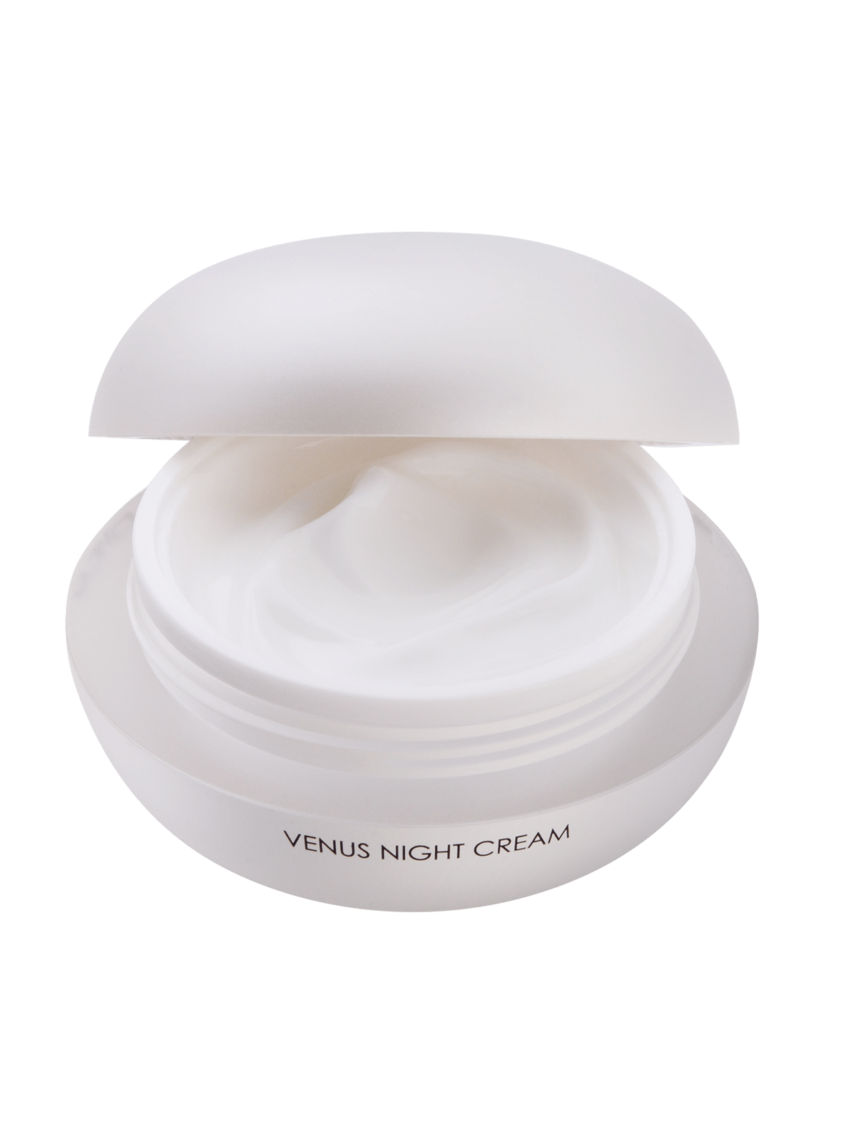 Venus Night Cream with open lid