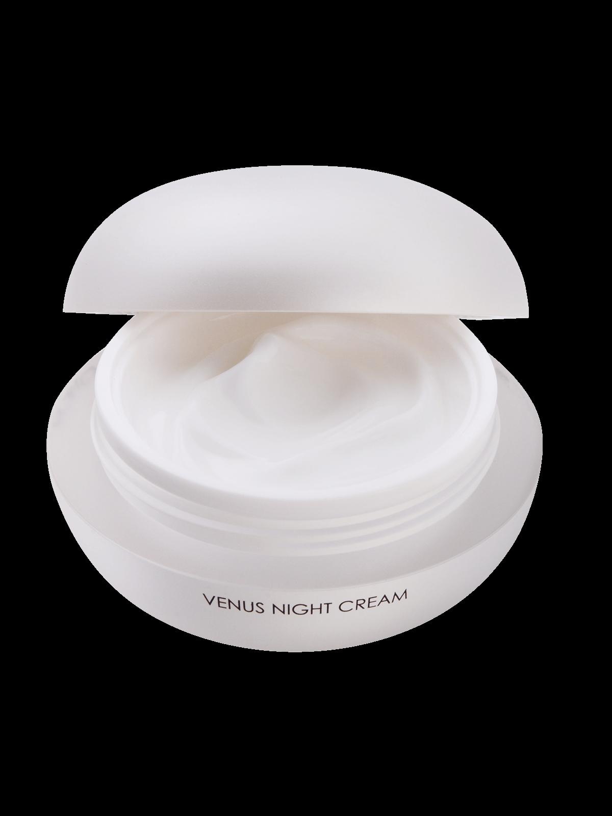 Venus Night Cream with open lid